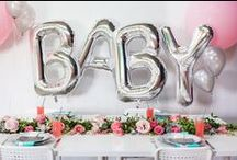 Oh Baby! Adorable balloons for Baby Showers and Christenings. / Beautiful ideas for decorating your baby shower or Christening.