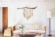 living space. / bohemian + zen living room design tips and inspiration.