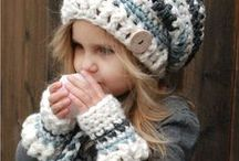 baby mitts and scarves