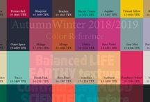 Trends 2018 | 2019 / colors prints fashion trends