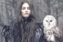 Owls / I talk with the moon, said the owl While she lingers over my tree I talk with the moon, said the owl And the night belongs to me.   B. McLoughland / by SinClair MacAnann