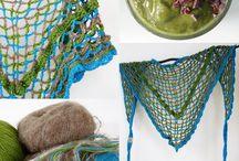 Gehaakte omslagdoeken. Handcrochet shawls / Fleurige gehaakte omslagdoek. Crochet Shawl.