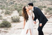 Engagement Photography | Engagement Photographer | Vasquez Rocks / Awesome desert engagement session at Vasquez Rocks in Los Angeles, California. LOVE this place! It looks like Joshua Tree meets the moon! This killer couple could teach a class in how to style your engagement photos! Loved their on point cocktail attire against the desert backdrop.