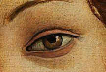 Eyes in painting