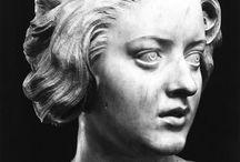 Sculpture. Faces