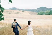 Rustic Los Angeles Wedding Portraits / These rustic LA wedding portraits were lots of fun to capture. I loved this secluded location tucked away in the hills of Los Angeles. The tall, golden grass really created a perfect backdrop.