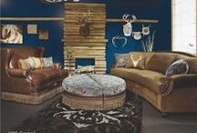Living Room / The living room is your place of refuge. Rustic decor offers a relaxing atmosphere that reflects God's outdoor beauty in your home.