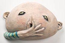 ceramic art, found object, mixed media art / by mary heckt