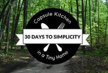 Capsule Kitchen / Food: Meal planning, recipe gathering, grocery shopping, and dinner preparing, simplified.