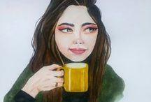 watercolor art / https://www.instagram.com/betdemka/