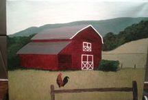 Red Barn - Oude boerderij in Amerika