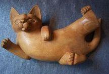 КОШКА ИЗ ДЕРЕВА! / wooden cat / by Юлия Согринa