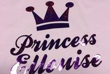 Princess T-Shirt Printing By Wuggle.co.uk / Here you will find a selection of our princess themed designs we have printed over the years. Each personalised with names created by our customers! Very popular personalised cute gifts!