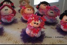 bonecas de pano centro de mesa / festa infantil,decoração de festa infantil, bonecas de pano centro de mesa