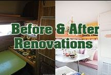 Before & After RV Renovations / Every trailer deserves a second chance! Check out these rv, camper and trailer makeovers!