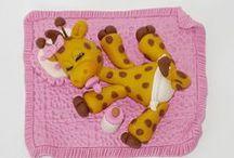 Polymer Clay Giraffes / Giraffes made from (polymer) clay.