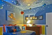 Kids' Bedroom & Playroom ideas / A collection of pins with children's bedroom and playroom ideas and DIY's. #Kids #Bedroom #DIY #Children #Home #Decor #Playroom