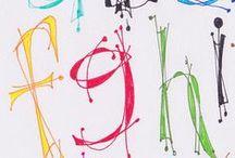 Fonts / Kivoja kirjaimia