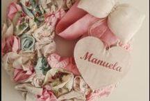 Porta Maternidade flores de tecido / um enfeite de porta maternidade, confeccionado em flores de tecido,personalizado com o nome de sua princesa!!