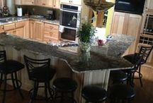 Interior Projects along with cabinet refinishing