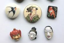 Tons of Ol' Buttons / A variety of old and interesting buttons made  in various styles and  materials.