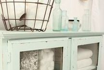 Shabby Chic / This encompasses everything I love from retro inspired design to distressed and painted furniture.