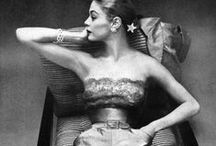 Vintage Fashion Photography✨✨✨✨ / A selection of vintage fashion photos and the models in black and white and color.