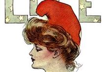 """The Gibson Girl / The Gibson Girl  was the personification of the feminine ideal of beauty as the statuesque, narrow-waist-ed female figure which was a  composite of """"thousands of American girls"""" portrayed by the satirical pen-and-ink illustrator Charles Dana Gibson during a 20-year period that spanned the late nineteenth and early twentieth century in the United States."""