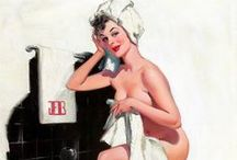Pin Up Artist Joyce Ballantyne / Joyce Ballantyne (April 4, 1918 – May 15, 2006) was a painter of pin-up art. She is best known as the designer of the Coppertone girl, whose swimming costume is being pulled down by a dog.