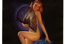 Pin Up Artist Jules Erbit / Jules Erbit(1889-1968)the master of pastels was one of the most prolific pin-up artists from the 1930s into the 1950s. The charming pastels of Jules Erbit, the versatile prolific American illustrator who worked for all of the major calendar companies during his long career.  His signature genre featured the Erbit girl, a generally wholesome and approachable beauty. This artwork is a wonderful example of his Good Girl Art style.