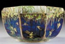 Wedgwood Fairyland Lustre Ware / Fairyland Lustre is the most sought after by collectors.   Unusually shaped or patterned pieces are more valuable.    Any damage even a minor one i.e  a small hairline or a chip reduces the value dramatically. Gilt wear and glaze scratches are common and affect the valuation minimally.   Multi-colored pieces are worth more. Crisp detailed decoration is paramount.