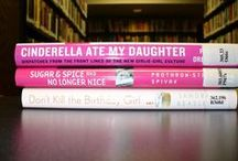 Book Spine Poems / Poems made from the titles on book spines in celebration of National Poetry Month.