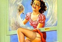 Pin Up Artist Ellen Barbara Segner / Ellen Barbara Segner(?-2001) was a prolific female illustrator, and her wholesome images have been published as magazine covers, in books, advertising art, and especially as calendar prints. Although she did paint pin-ups and glamour art, her work most often depicted children and other sentimental and nostalgic subjects.