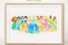 Watercolor Art Prints / Watercolor Style Art Prints