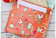 Re usable snack bags / Free patterns to make for kids lunches