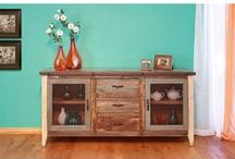 Rustic Chic / Rustic Chic has the perfect design elements for all farmhouse living areas, like the bedroom, dining room, living room, and more!