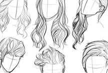 Drawing ~ hair / All kinds of styles. Both tutorials and inspiration.