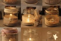 Crafts ~ jars / Lanterns and candles.
