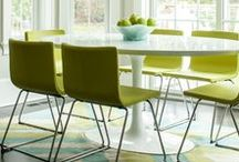 Dining Room Ideas / The dining room sets the mood for our meals. It is a lot of fun to decorate and make it a pleasant eating place!