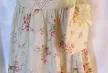 Girls Summer Dresses and Tee Pees / made from new and Vintage materials