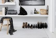 Shoe Storage Ideas / Some great ideas for storing your shoes.