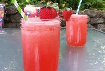 Refreshing Summertime drinks for the entire family. / It's hot out there and what better way to cool down then with a refreshing fruity drink.