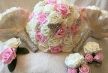 Wedding bouquets by Chelle / Beautiful wedding bouquets made from artificial roses