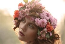 flowers in your hair / wreaths and floral hair pieces / by Cynthia Wolf
