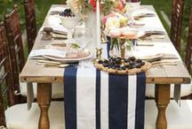 Table Settings / An inviting table sets the mood for an event whether it's tea for two or a dinner party for 12.  Putting your most treasured items together with your dinnerware, can make a most memorable affair...