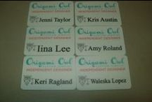 origami owl and miche bag name badges