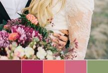 wedding colour palette inspiration / Wedding colour palette / theme for your bohemian or modern wedding. Earth tones as well as colourful Moroccan colour themes.