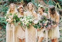 team bridesmaids / Bridesmaid dress inspiration, bridesmaid gift ideas, bridesmaid bouquets, and photography. Mismatching bridemaids dresses. Bridesmaids style tips.