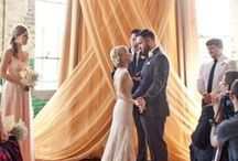 wedding ceremony ideas / Wedding ceremony, ideas such as decor, backdrops, rituals, time capsules, meaningful touches, personalizing wedding ceremony.