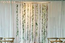 wedding backdrops / Bohemian, modern, romantic backdrop inspiration for wedding ceremonies and receptions.